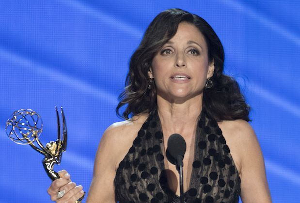"""THE 68TH EMMY(r) AWARDS - """"The 68th Emmy Awards"""" broadcasts live from The Microsoft Theater in Los Angeles, Sunday, September 18 (7:00-11:00 p.m. EDT/4:00-8:00 p.m. PDT), on ABC and is hosted by Jimmy Kimmel. (ABC/Image Group LA) JULIA LOUIS-DREYFUS"""